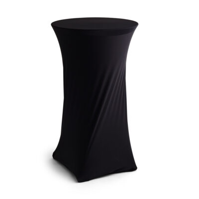 Bar Table Cover - Black Lycra