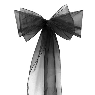 chair cover bows. Chair Bow \u2013 Black Cover Bows