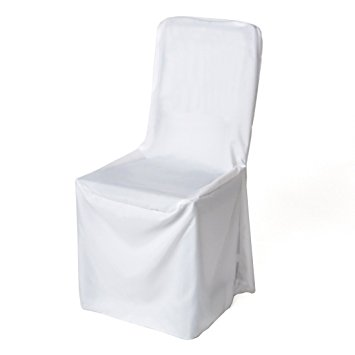 Chair Cover White Polyester Salters Hire